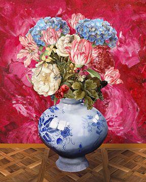 Vaas met bloemen, stilleven van Nicole Habets