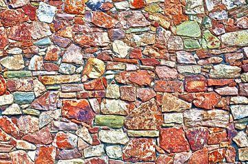 Steinmauer in Bristol, England von