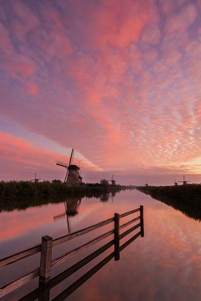 Sunrise Kinderdijk van Jan Koppelaar