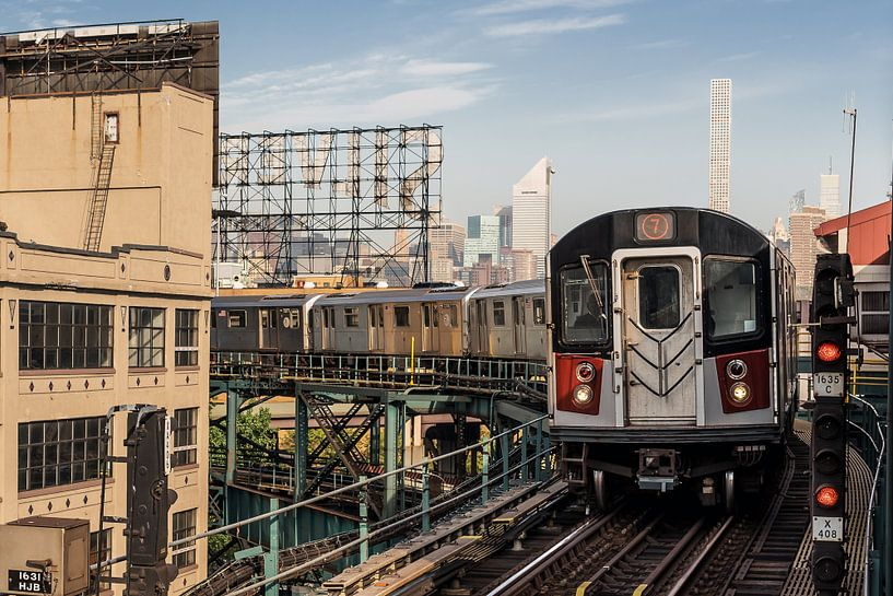 New York  Subway Linie 7 van Kurt Krause