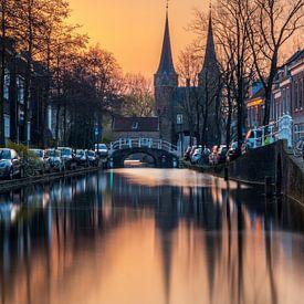 Sunrise in Delft van Ilya Korzelius
