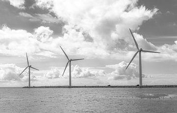 Windmolens Op Een Rij van Melvin Fotografie