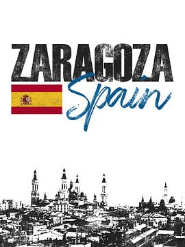 Zaragoza Spanje van Printed Artings