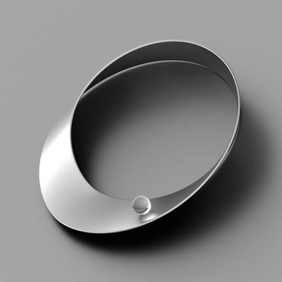 Chrom-Möbius-Band dunkel