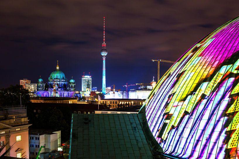 Berlijnse skyline in een bijzonder licht van Frank Herrmann