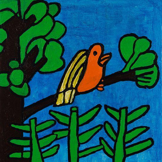 Vogel in boom