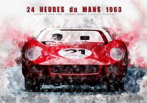 Le Mans winnaar 1963 van Theodor Decker