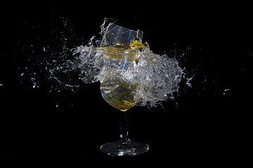 Knallend champagneglas van Rob Hansum