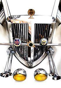 Vooraanzicht klassieke auto - oldtimer van