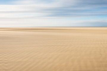 Sandkämme am Strand bei Scheveningen von MICHEL WETTSTEIN