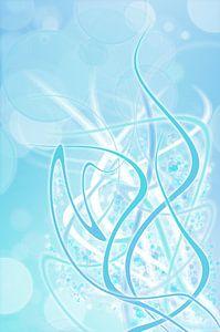 icey blue twirls