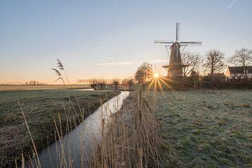 Mooie zonsopkomst bij molen van Moetwil en van Dijk - Fotografie