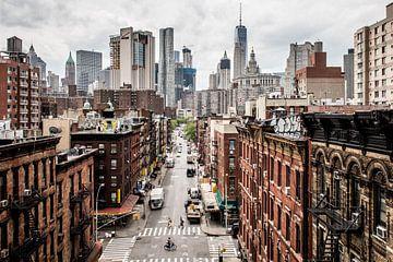 Stadsgezicht op Manhattan, New York van Atelier Liesjes