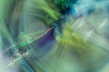 Leichte Kunstfantasie in Grün- und Blautönen von Lisette Rijkers