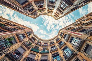Straat van Barcelona van Manjik Pictures