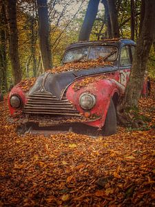 Rode BMW old timer van