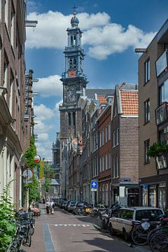Zicht op de Westertoren in Amsterdam van Peter Bartelings Photography