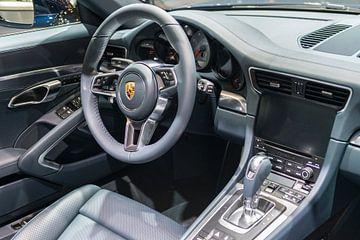 Porsche 911 Targa 4S sportwagen interieur van Sjoerd van der Wal