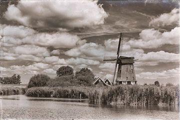 Molen in de Eilandspolder van Jan van der Knaap