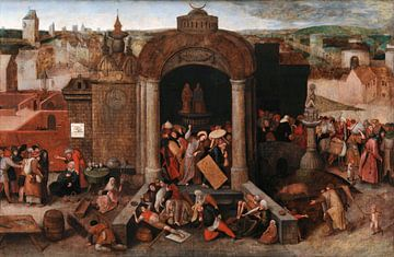 Christus jagt die Geldwechsler aus dem Tempel, Pieter Bruegel der Ältere