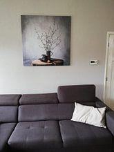 Kundenfoto: Altniederländisches Stillleben auf Holz [quadratisch]. von Affect Fotografie, auf leinwand