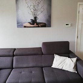 Klantfoto: Oud Hollands stilleven op hout [vierkant] van Affect Fotografie, op canvas