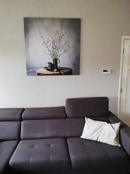 Kundenfoto: Altniederländisches Stillleben auf Holz [quadratisch]. von Affect Fotografie