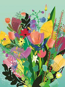 Lente boeket van Suzanne Allewelt