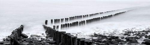 Golfbreker panorama van