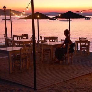 Terras bij zonsondergang van Anne Travel Foodie