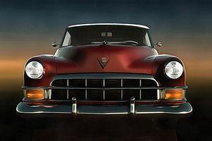 Rode oldtimer Cadillac