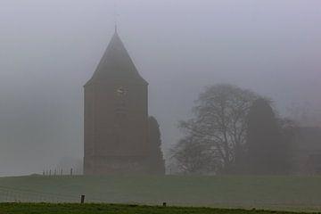 Pfeffer-Bus-Turm im Nebel von Tania Perneel