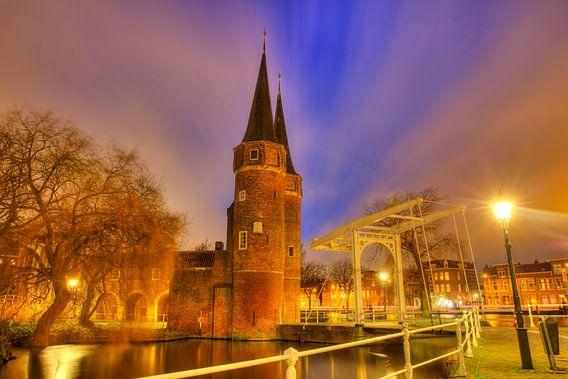 Sfeervol Delft in de avond van Dexter Reijsmeijer