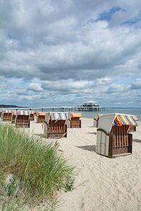 op het strand van Timmendorf aan de Oostzee
