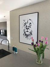 Photo de nos clients: lion sur philippe imbert, sur toile
