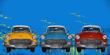 Opel Olympia Rekord in Pop-Art von aRi F. Huber