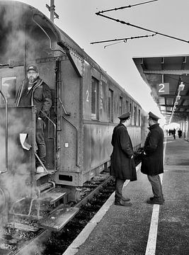 Stoomtrein wagon van Wim Mourits