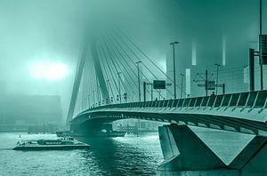 Le Pont Erasmus dans le brouillard