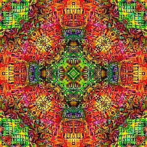 Mandala Liquidlight 4 van Arno Rollenberg