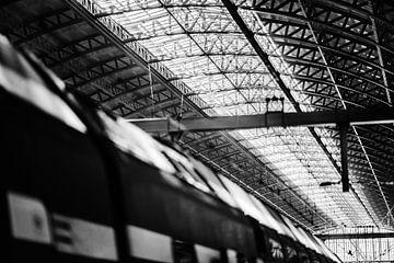 Zug und Decke Amsterdam Central Station von Bart Rondeel