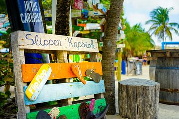 Slipper Kapstok op Mambo Beach te Curacao van Nicole