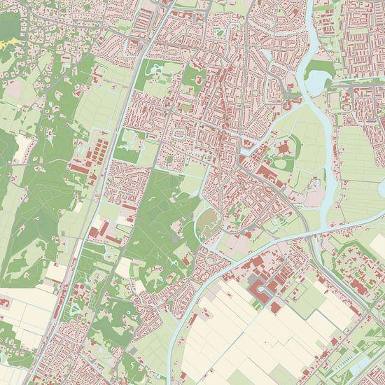 Kaart vanHeemstede van Rebel Ontwerp