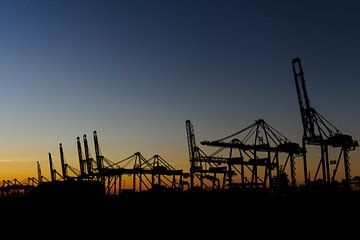De haven van Rotterdam van