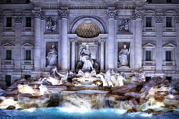 Trevi-fontein van Claudia Moeckel