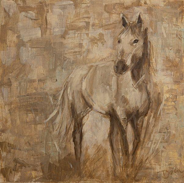 Gemälde Pferd, abstrakt von Mieke Daenen
