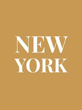 NEW YORK (in goud/wit) van MarcoZoutmanDesign