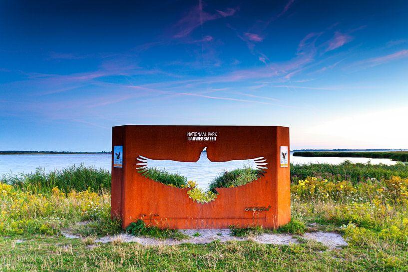 Monument Europese Zeearend in Nationaal park Lauwersmeer van Evert Jan Luchies