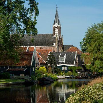 Paysage du village de De Rijp sur Keesnan Dogger Fotografie