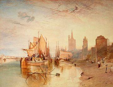Keulen, de aankomst van een Packet-Boat: Avond, William Turner