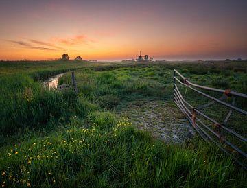 Sonnenaufgang an der Mühle von Tomas van der Weijden
